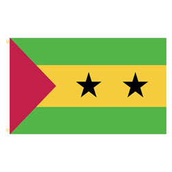 Sa Tome & Principe Rectangle Flags