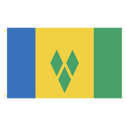 St. Vincent & the Grenadines Rectangle Flags