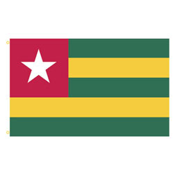 Togo Rectangle Flags