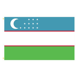 Uzbekistan Rectangle Flags