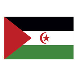 Western Sahara Rectangle Flags