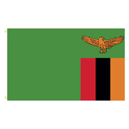 Zambia Rectangle Flags