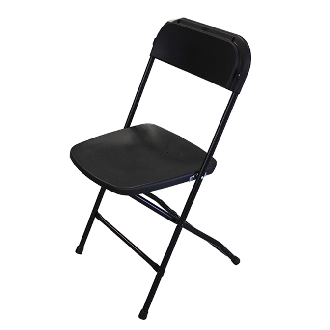 Black Poly Folding Chair