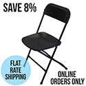 Black Poly Chair 120 Units