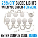 Globe Light 4'' White