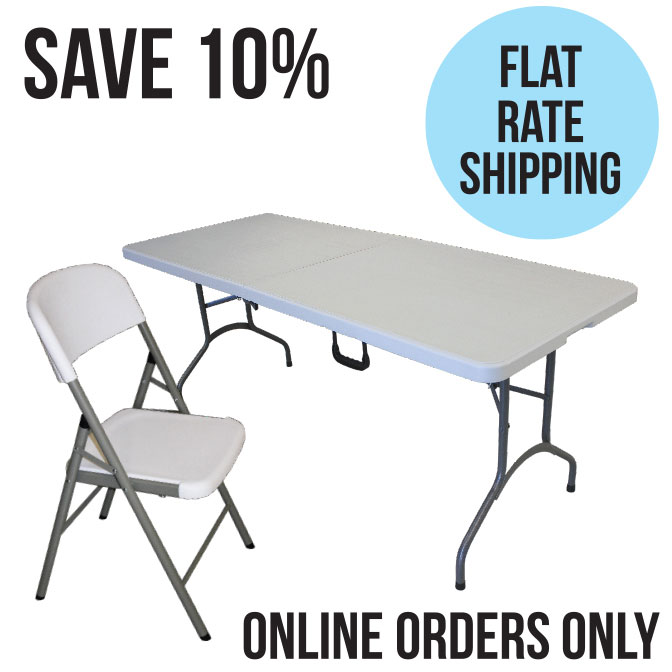 Mayfield Chair And Center Folding Resin Table Set