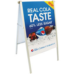 Fold-Away Compact A-Frame Sign
