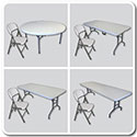Banquet Table and Folding Chair Combos