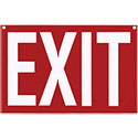 Red Plastic Exit Sign