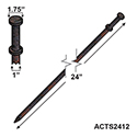 "24""x 1"" Double Head Tent Stake"