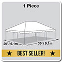 20' x 30' Presto Series Pole Canopy, 1 Piece Tent Top, Complete