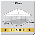 20' x 30' Classic Series Pole Tent, 1 Piece Tent Top, Complete