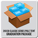 20' x 30' Classic Series Pole Tent Graduation Package