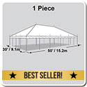 30' x 50' Classic Series Pole Tent, 1 Piece Tent Top, Complete