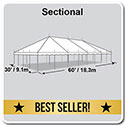 30' x 60' Classic Series Pole Tent, Sectional Tent Top, Complete
