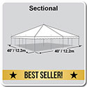 40' x 40' Classic Series Pole Tent, Sectional Tent Top, Complete