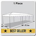 10' x 30' Classic Series Frame Tent, 1 Piece Tent Top, Complete