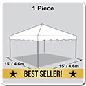 15' x 15' Classic Series Frame Tent, 1 Piece Tent Top, Complete