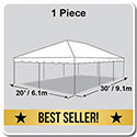 20' x 30' Classic Series Frame Tent, 1 Piece Tent Top, Complete