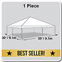 30' x 30' Classic Series Frame Tent, 1 Piece Tent Top, Complete