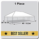 30' x 40' Classic Series Frame Tent, 1 Piece Tent Top, Complete