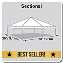 30' x 30' Classic Series Frame Tent, Sectional Tent Top, Complete