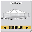 30' x 45' Classic Series Frame Tent, Sectional Tent Top, Complete