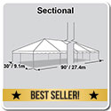 30' x 90' Classic Series Frame Tent, Sectional Tent Top, Complete