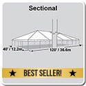 40' x 120' Classic Series Frame Tent, Sectional Tent Top, Complete