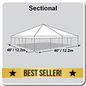 40' x 40' Classic Series Frame Tent, Sectional Tent Top, Complete
