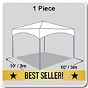 10' x 10' Master Series Frame Tent, 1 Piece Tent Top, Complete