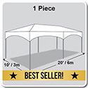 10' x 20' Master Series Frame Tent, 1 Piece Tent Top, Complete