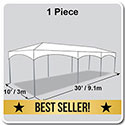 10' x 30' Master Series Frame Tent, 1 Piece Tent Top, Complete