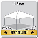 15' x 15' Master Series Frame Tent, 1 Piece Tent Top, Complete