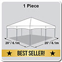 20' x 20' Master Series Frame Tent, 1 Piece Tent Top, Complete