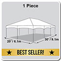 20' x 30' Master Series Frame Tent, 1 Piece Tent Top, Complete