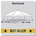 30' x 30' Master Series Frame Tent, Sectional Tent Top, Complete