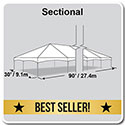 30' x 90' Master Series Frame Tent, Sectional Tent Top, Complete