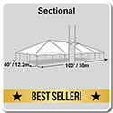 40' x 100' Master Series Frame Tent, Sectional Tent Top, Complete