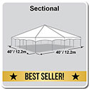 40' x 40' Master Series Frame Tent, Sectional Tent Top, Complete