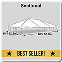 40' x 60' Master Series Frame Tent, Sectional Tent Top, Complete
