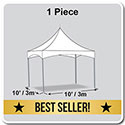 10' x 10' Pinnacle Series High Peak Frame Tent / Cross Cable Marquee, Complete
