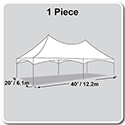 20' x 40' Pinnacle Series High Peak Frame Tent / Cross Cable Marquee, Complete