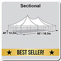 40' x 60' Premiere I Series High Peak Pole Tent, Sectional Tent Top, Complete