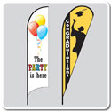 Celebration & Party Flags - Feather