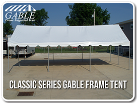 Gable frame tents