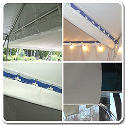 Rain Water Gutters For Classic Series Tents Amp Canopies