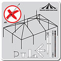 Master Series High Peak Frame Tent Replacement Frames