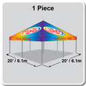 20' x 20' Classic Series Pole Tent Full Digital Print