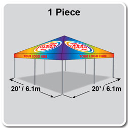 20' x 20' Classic Series Frame Tent Full Digital Print